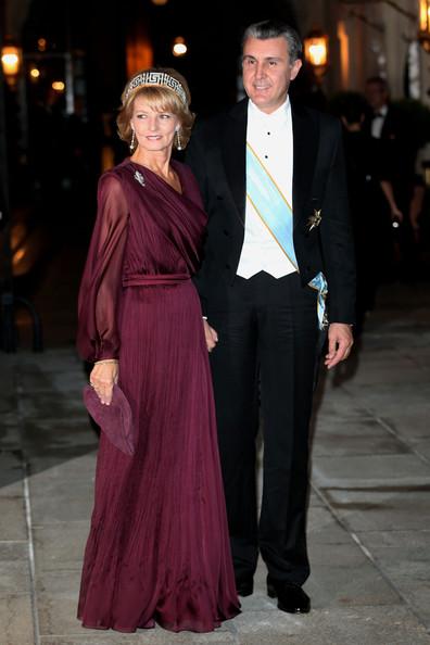 Crown Princess Margareta and Prince Radu at the Luxembourg royal wedding, 2012. Photo: Zimbio