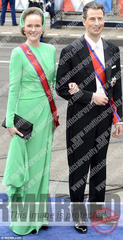 Alois and Sophie at the Dutch Investiture, 2013.  Photo: Daily Mail